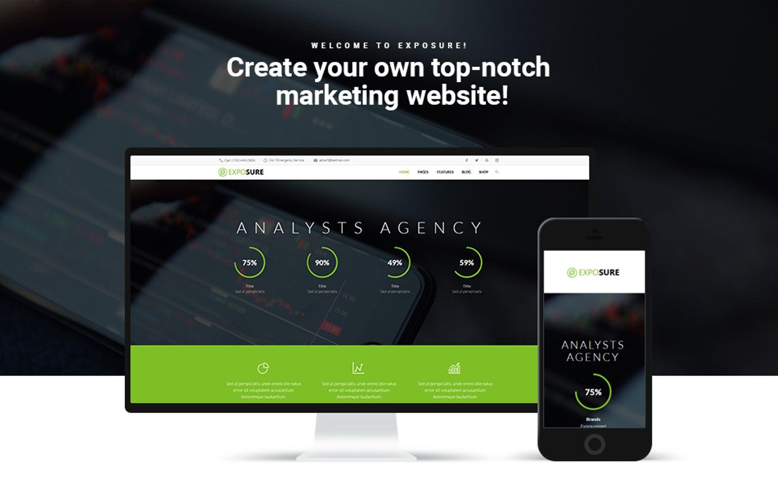 Exposure - Marketing WordPress Theme