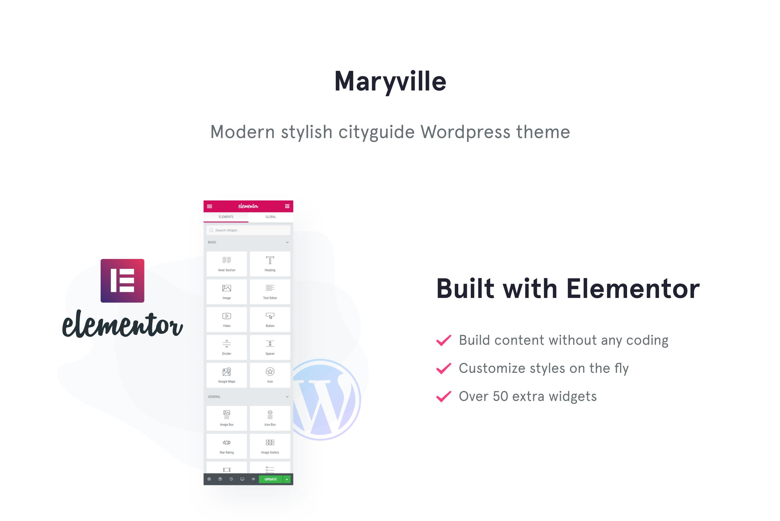 Maryville - City Portal & City Guide WordPress Theme