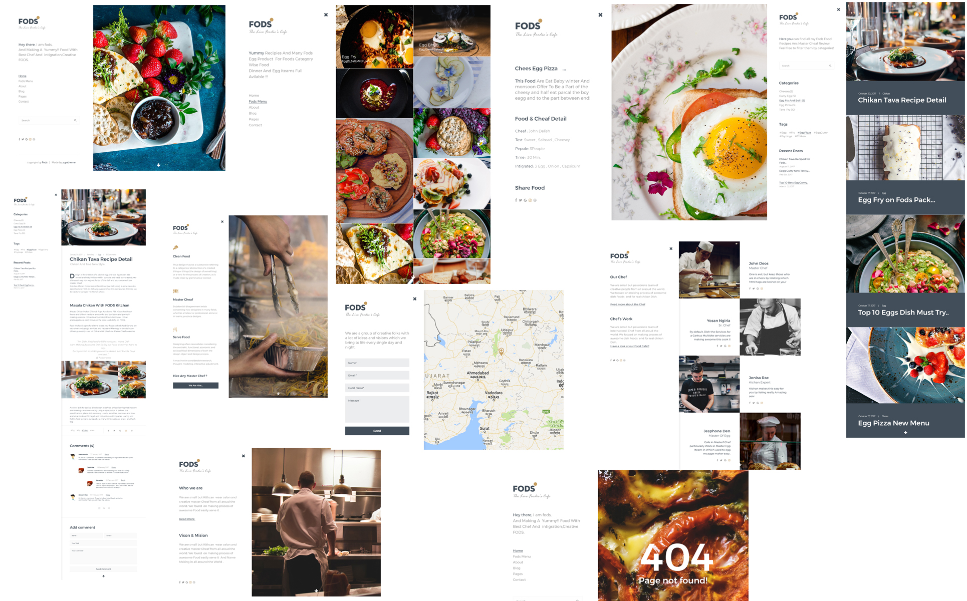 FODS - The Live Foodie's Cafe PSD Template