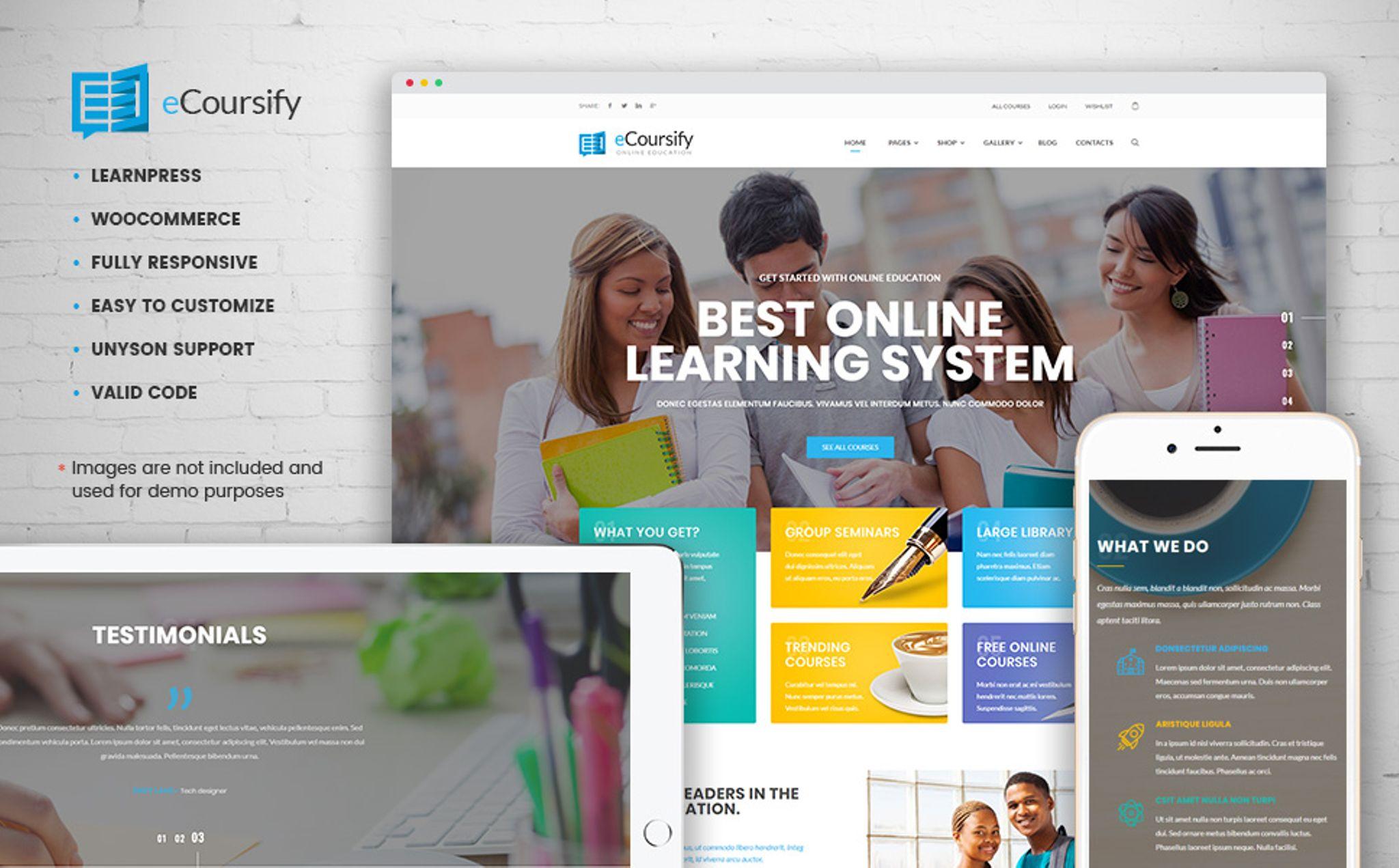 ECoursify - LMS for Online Courses WordPress Theme