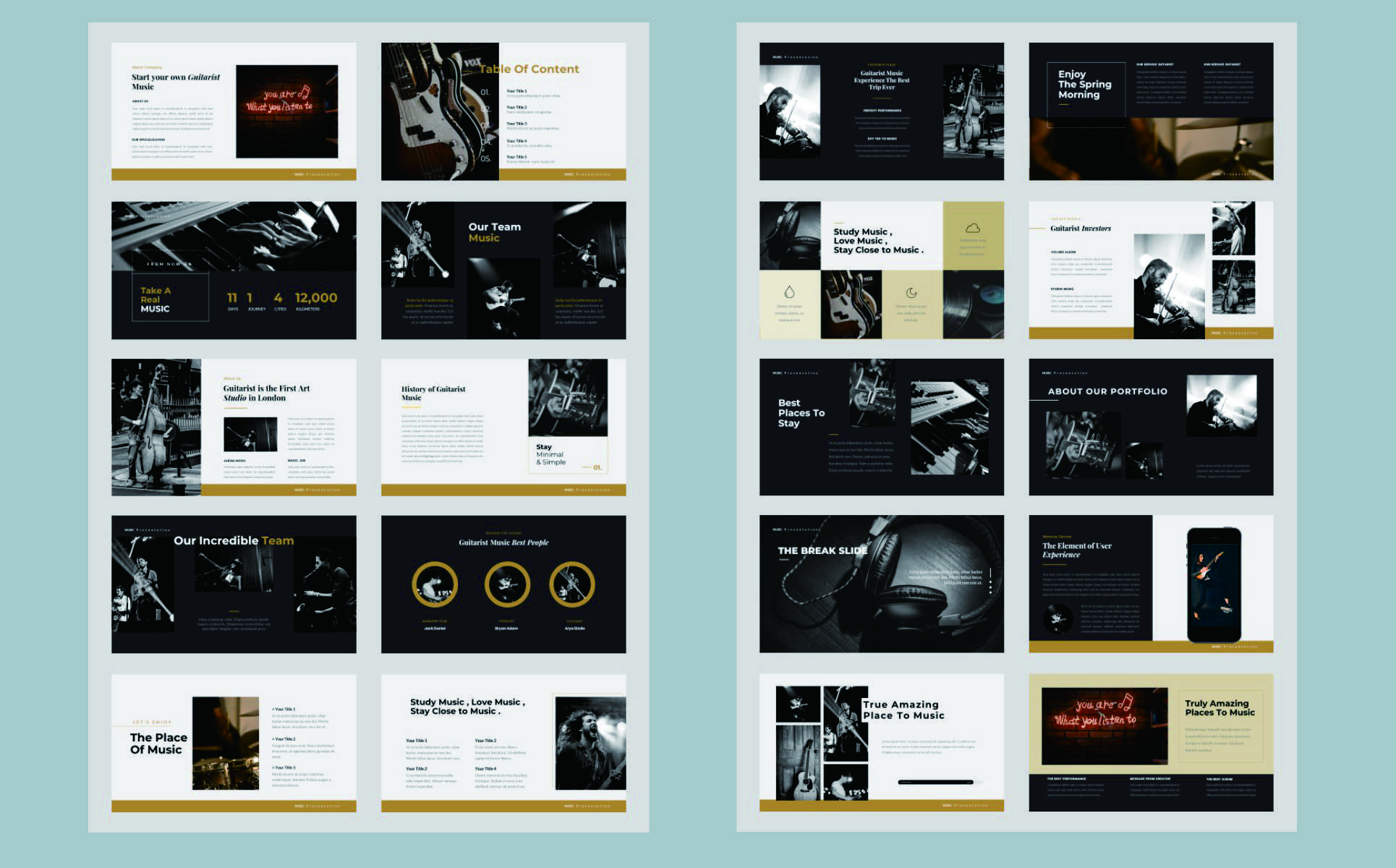 Guitarist - Music PowerPoint Template