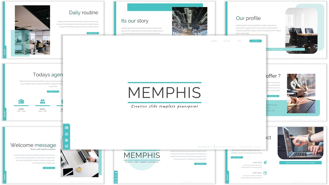 Memphis PowerPoint Template
