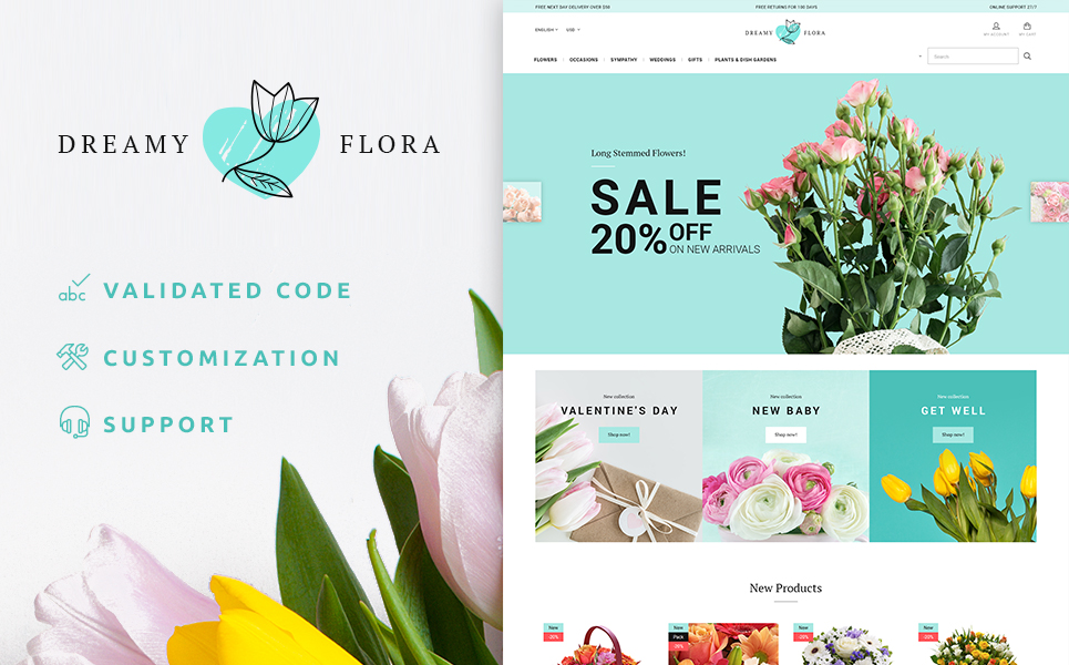 Dreamy Flora PrestaShop Theme