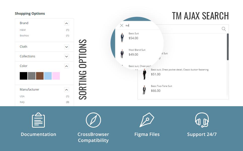 GloStore - AMP Men's Fashion Magento Theme