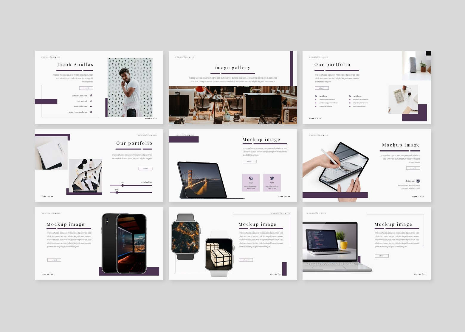 Anulla PowerPoint Template