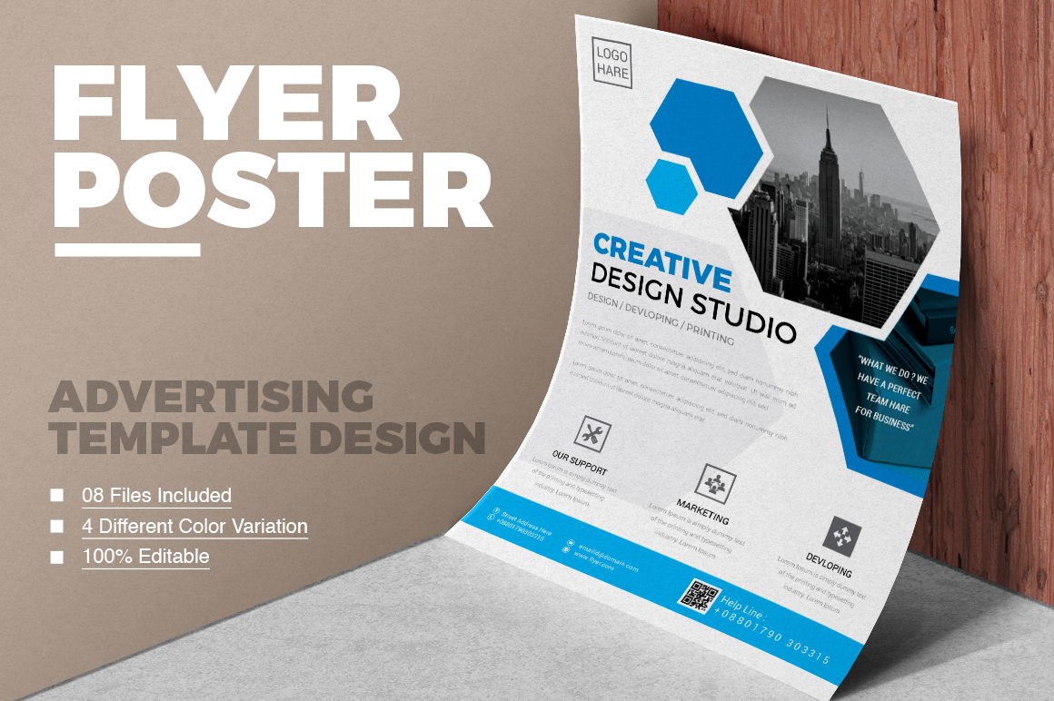 Clean & Modern Flyer Vol 01 Corporate Identity