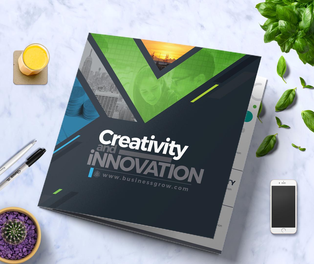 CreativePainting Tri-fold Brochure Corporate Identity
