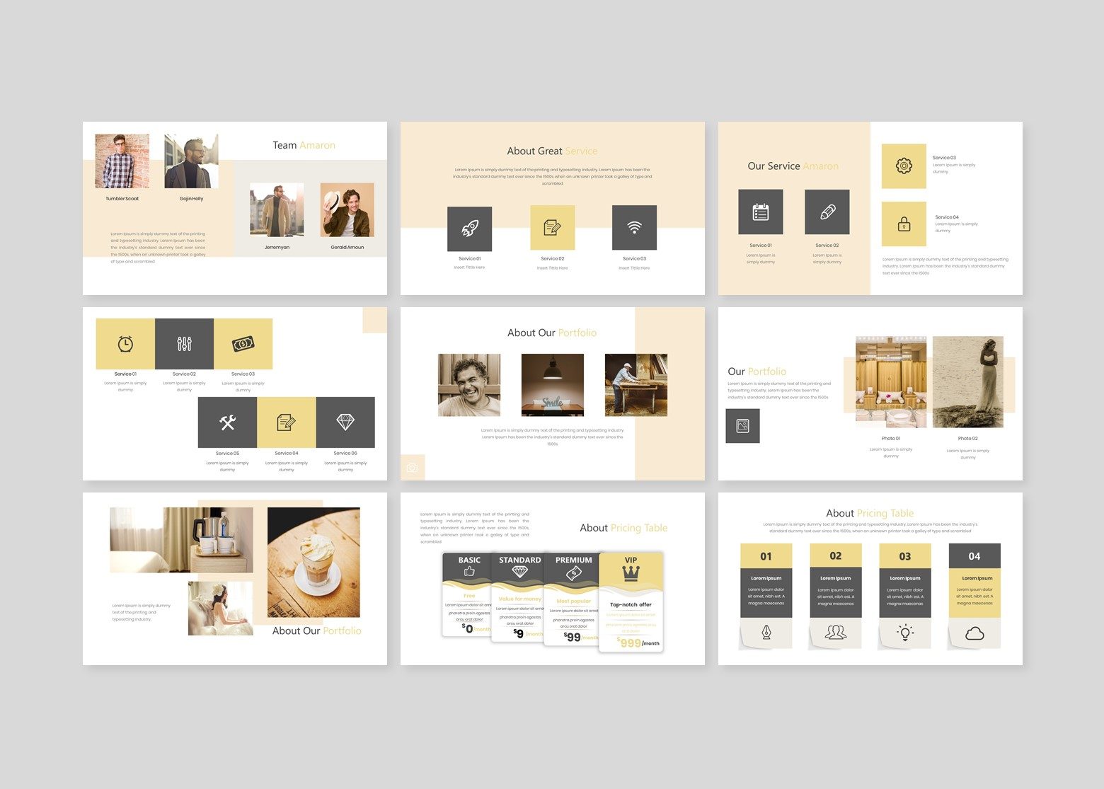 Amaron Creative Business PowerPoint Template