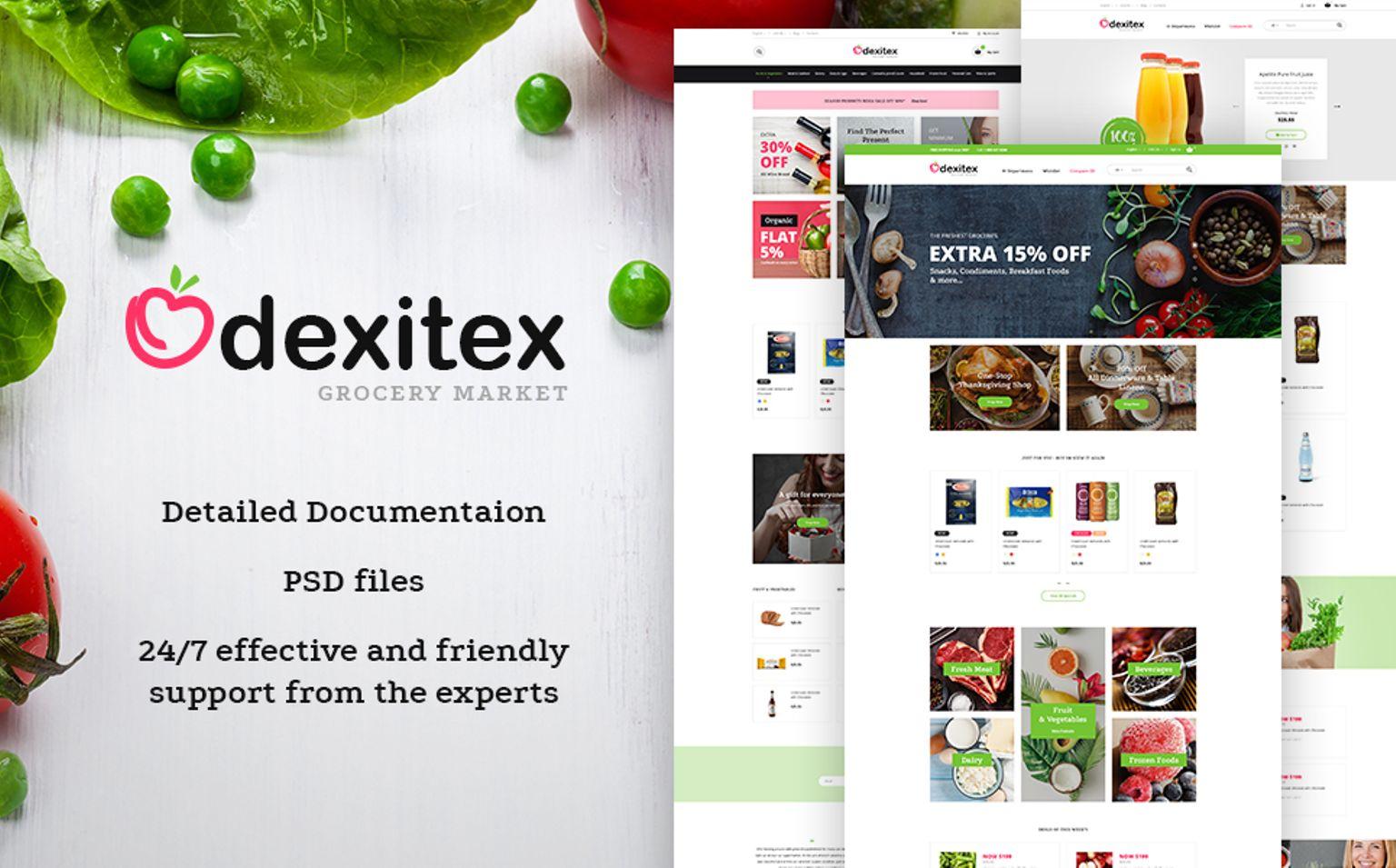 Dexitex - Grocery Market PrestaShop Theme