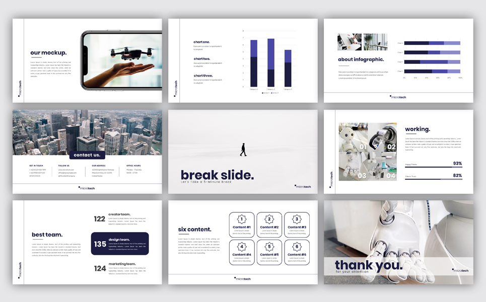 Microtech - Business PowerPoint Template