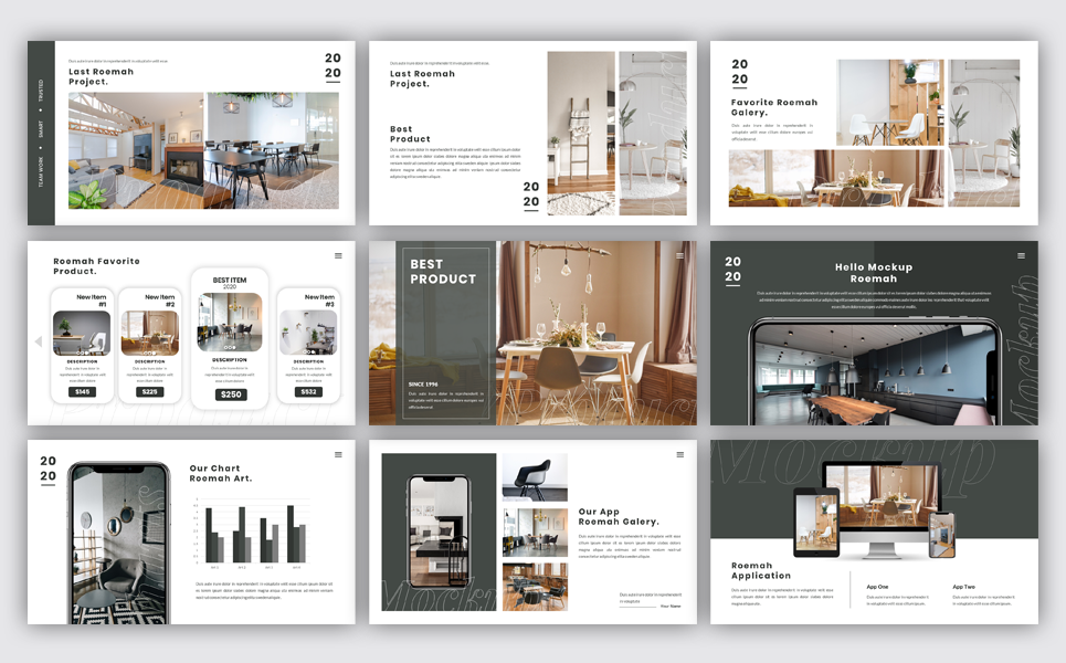 Roemah - Furniture & Home Decoration PowerPoint Template