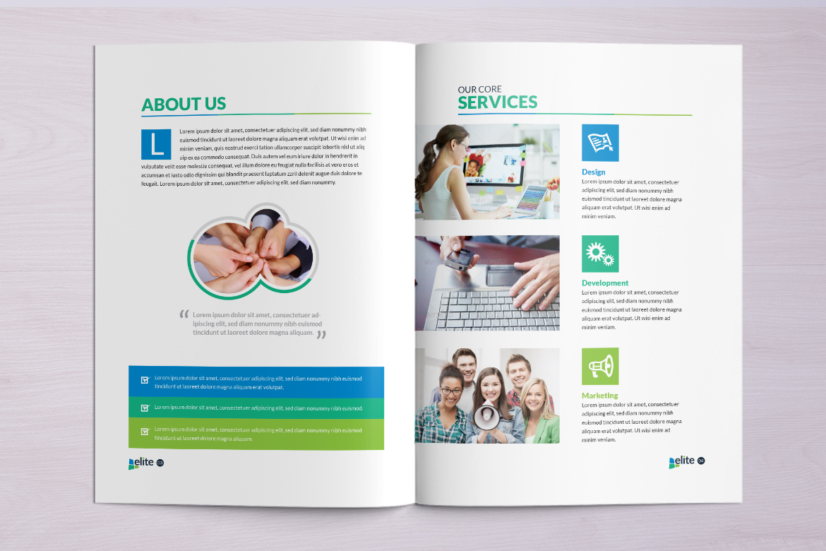 12 Pages Business Brochure Corporate Identity