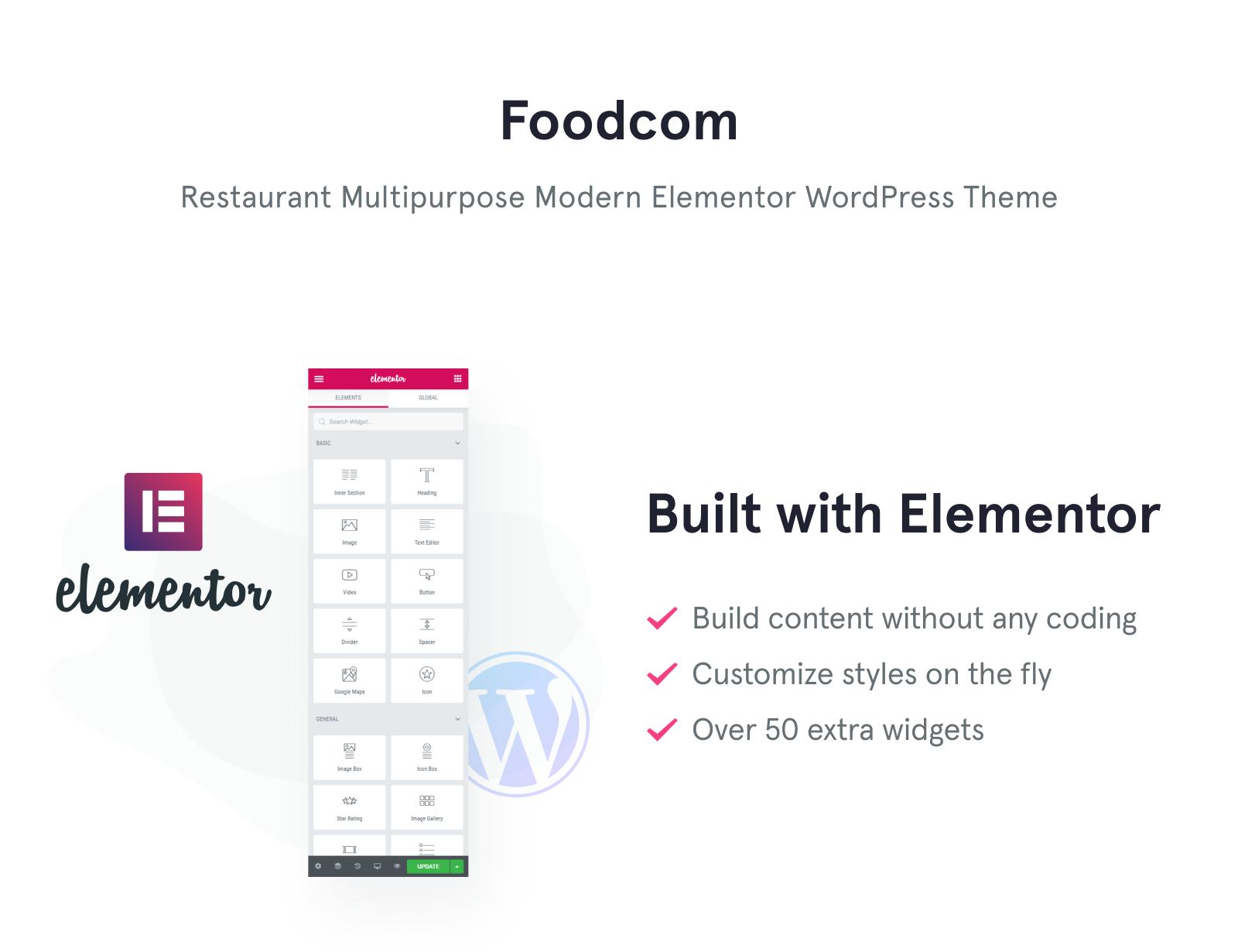 Foodcom - Restaurant Elementor WordPress Theme