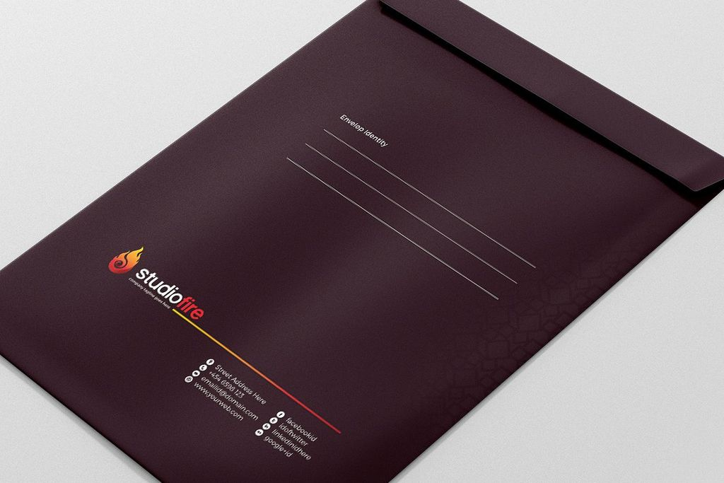 Creative Business Envelope Pack Corporate Identity