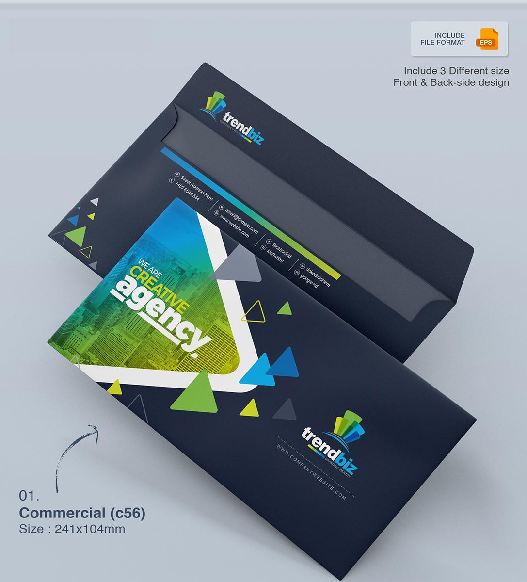 Corporate Envelope Template Pack Corporate Identity