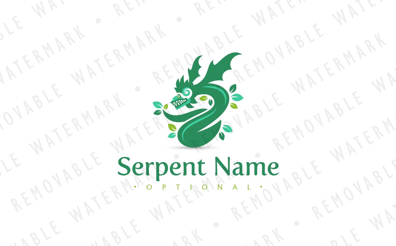 Quetzalcoatl Serpent God Logo Template