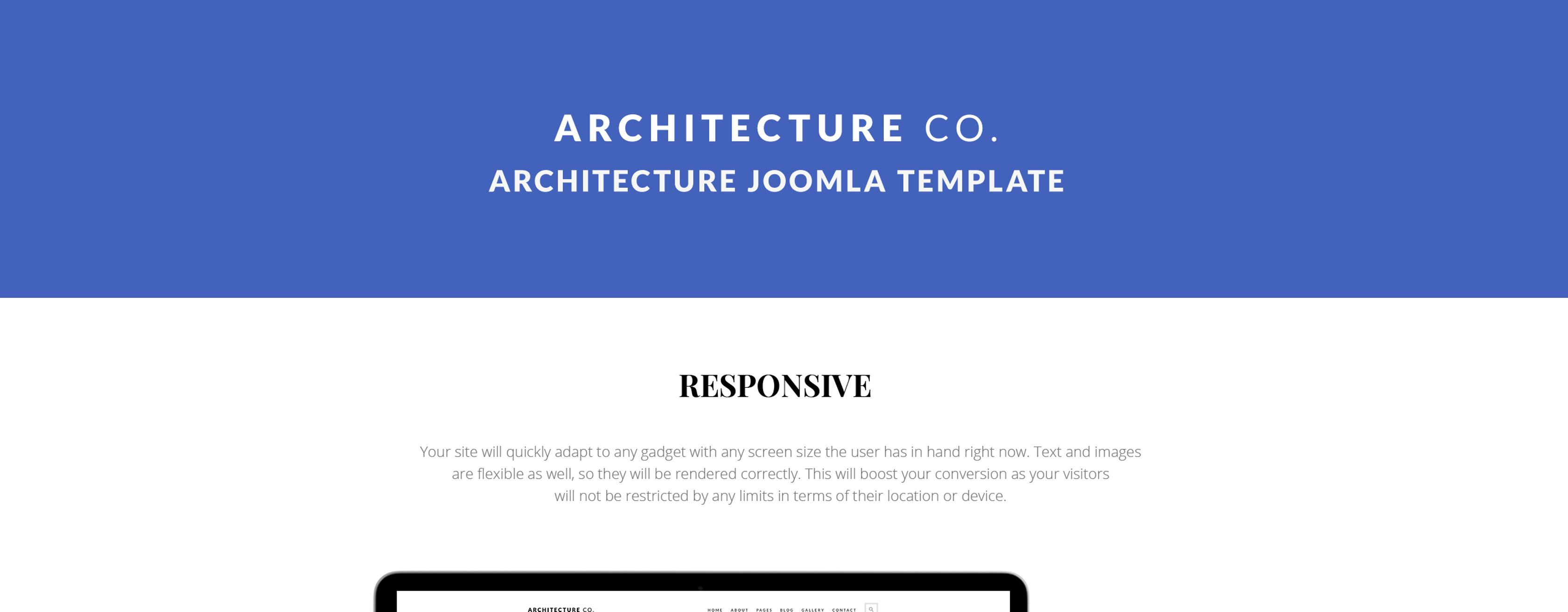 Architecture Co - Construction Company Joomla Template