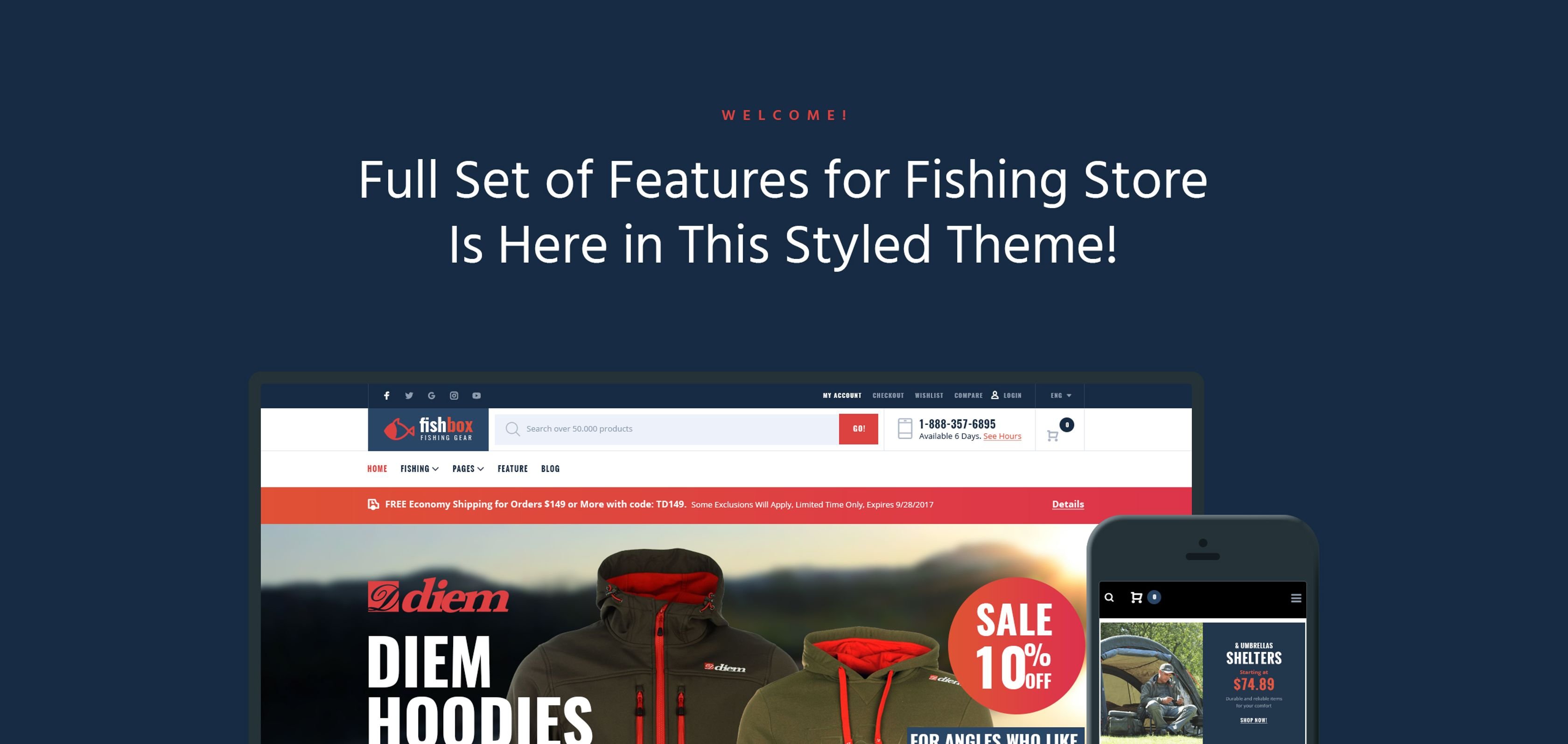 FishBox - Fishing Supplies WooCommerce Theme