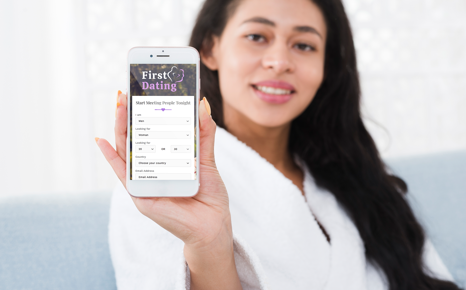 First Dating - Dating Agency Landing Page Template