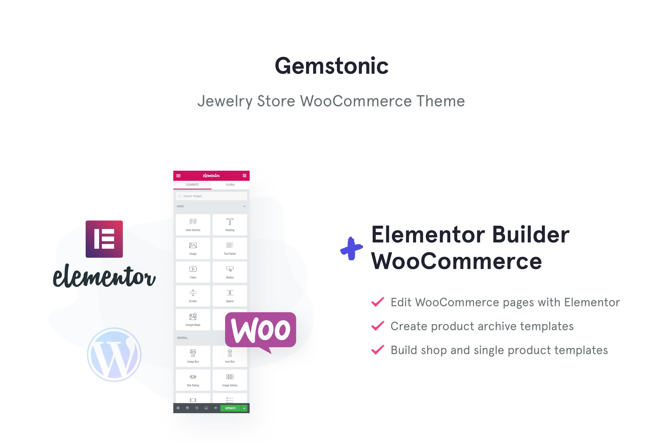 Gemstonic - Jewelry Elementor WooCommerce Theme