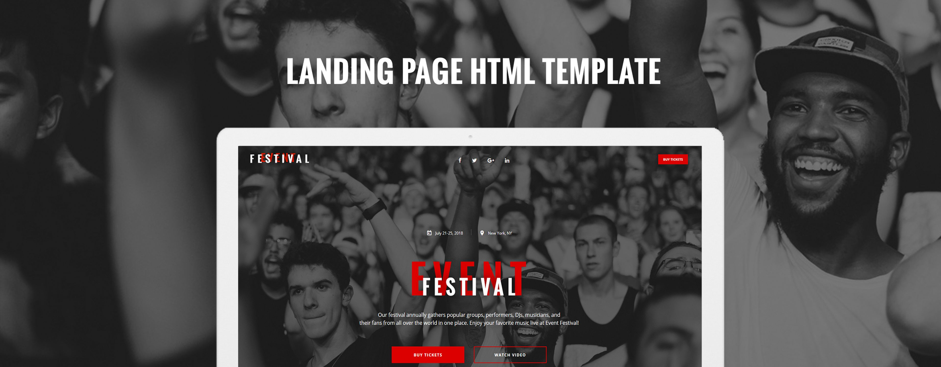 Festival Event - Responsive HTML5 Landing Page Template