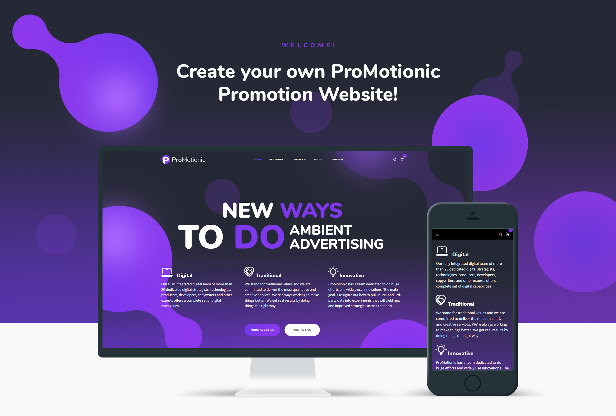 ProMotionic - Promotion Agency WordPress Theme