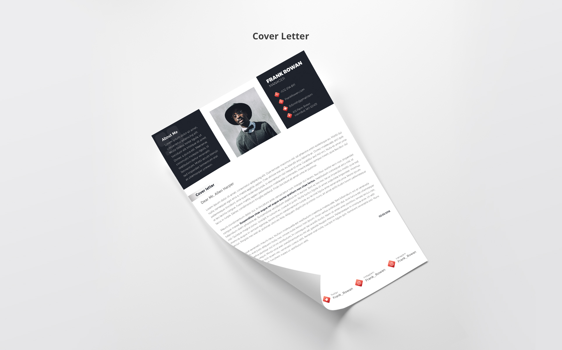 Frank Rowan - Manager Resume Template