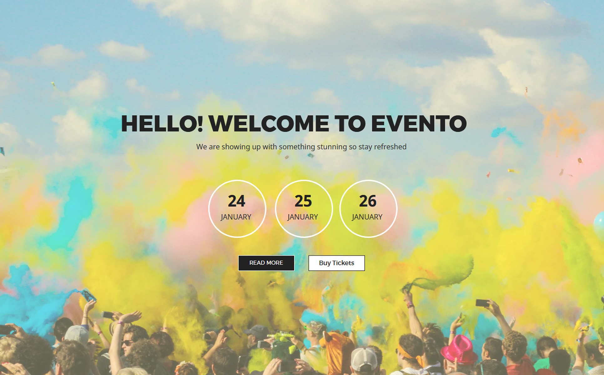 Evento - Concert Events Unbounce Template