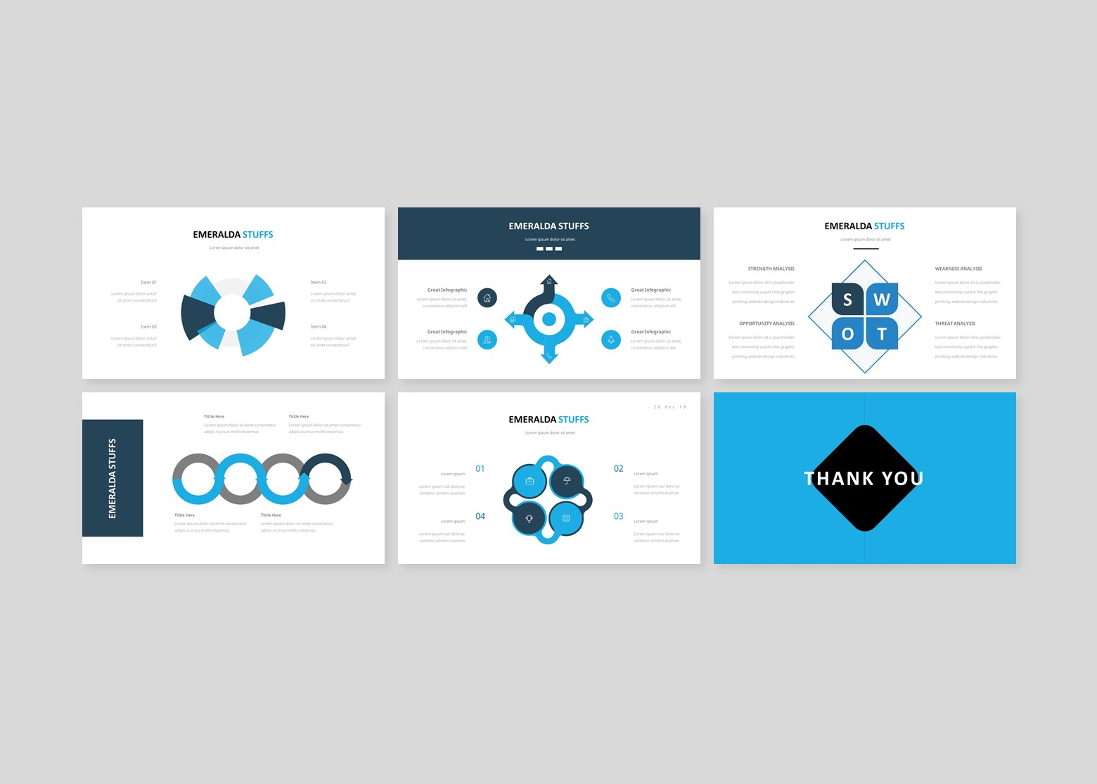 Emeralda Creative Business PowerPoint Template