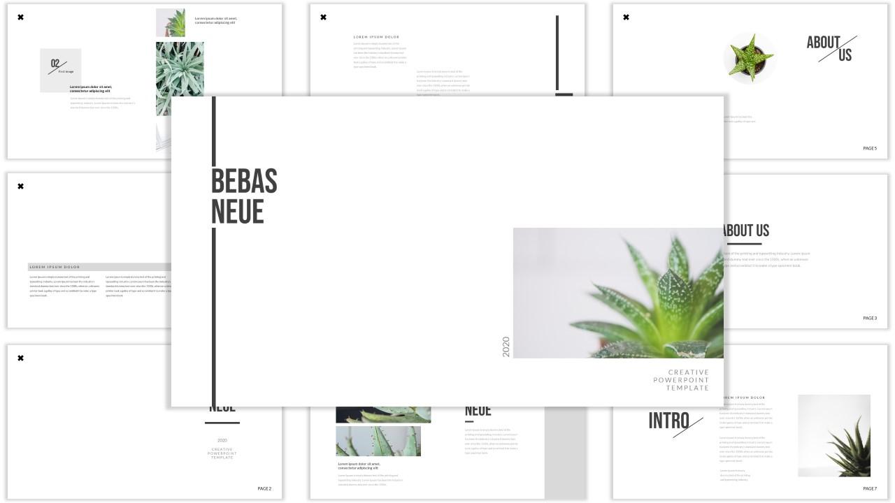 Bebas Neue PowerPoint Template