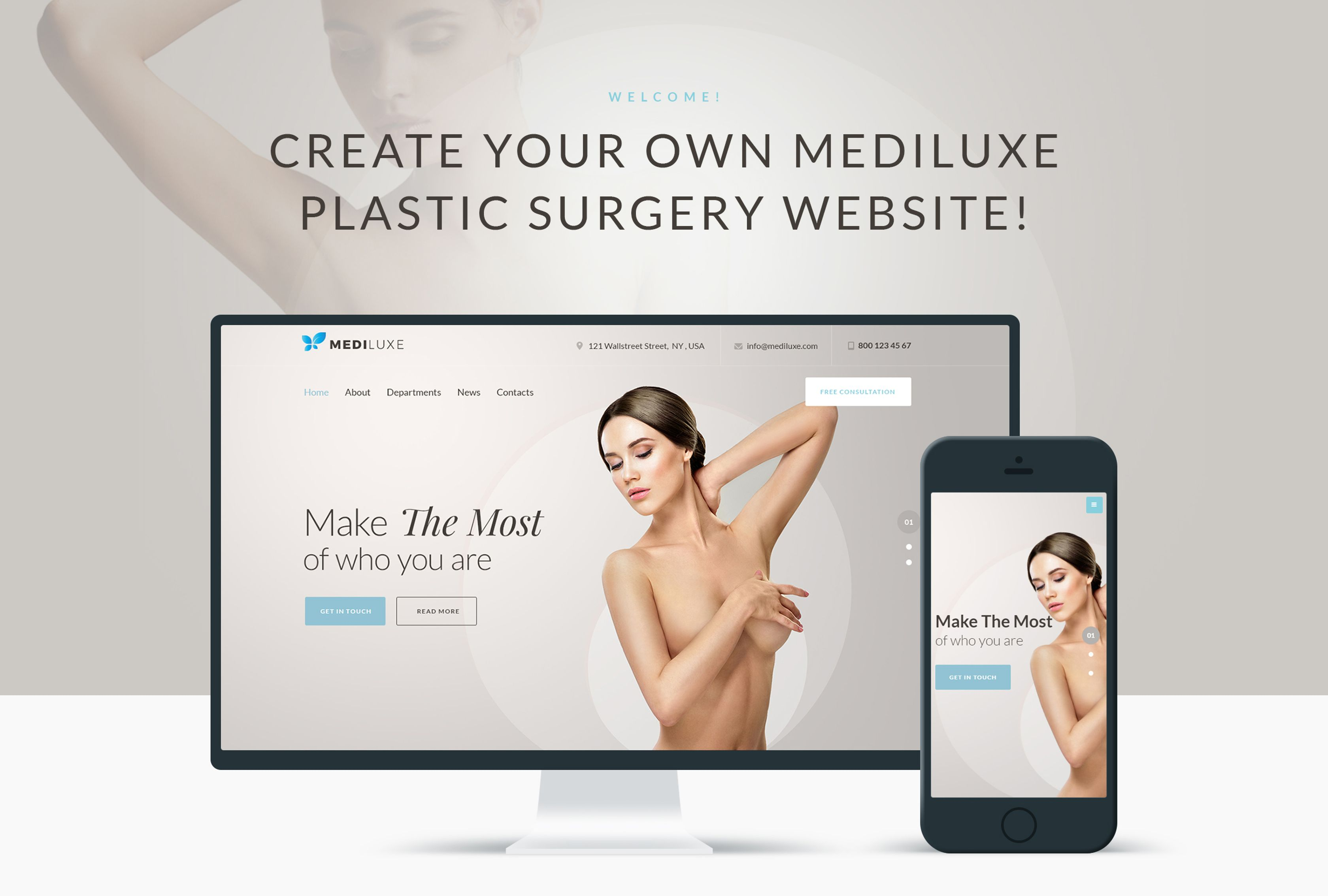 MediLuxe - Plastic Surgery WordPress Theme