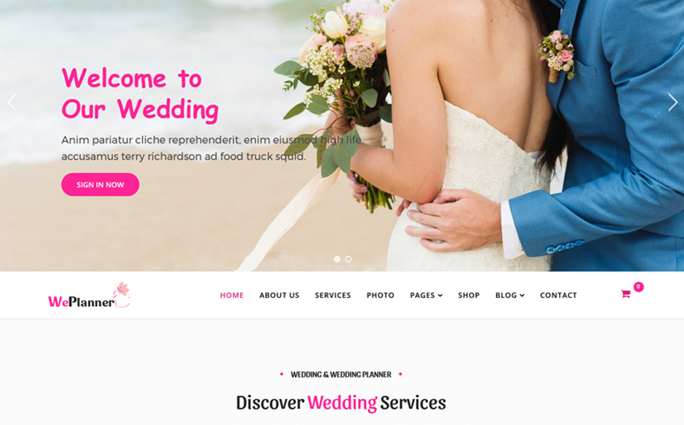 Wedding & Wedding Planner Joomla Template