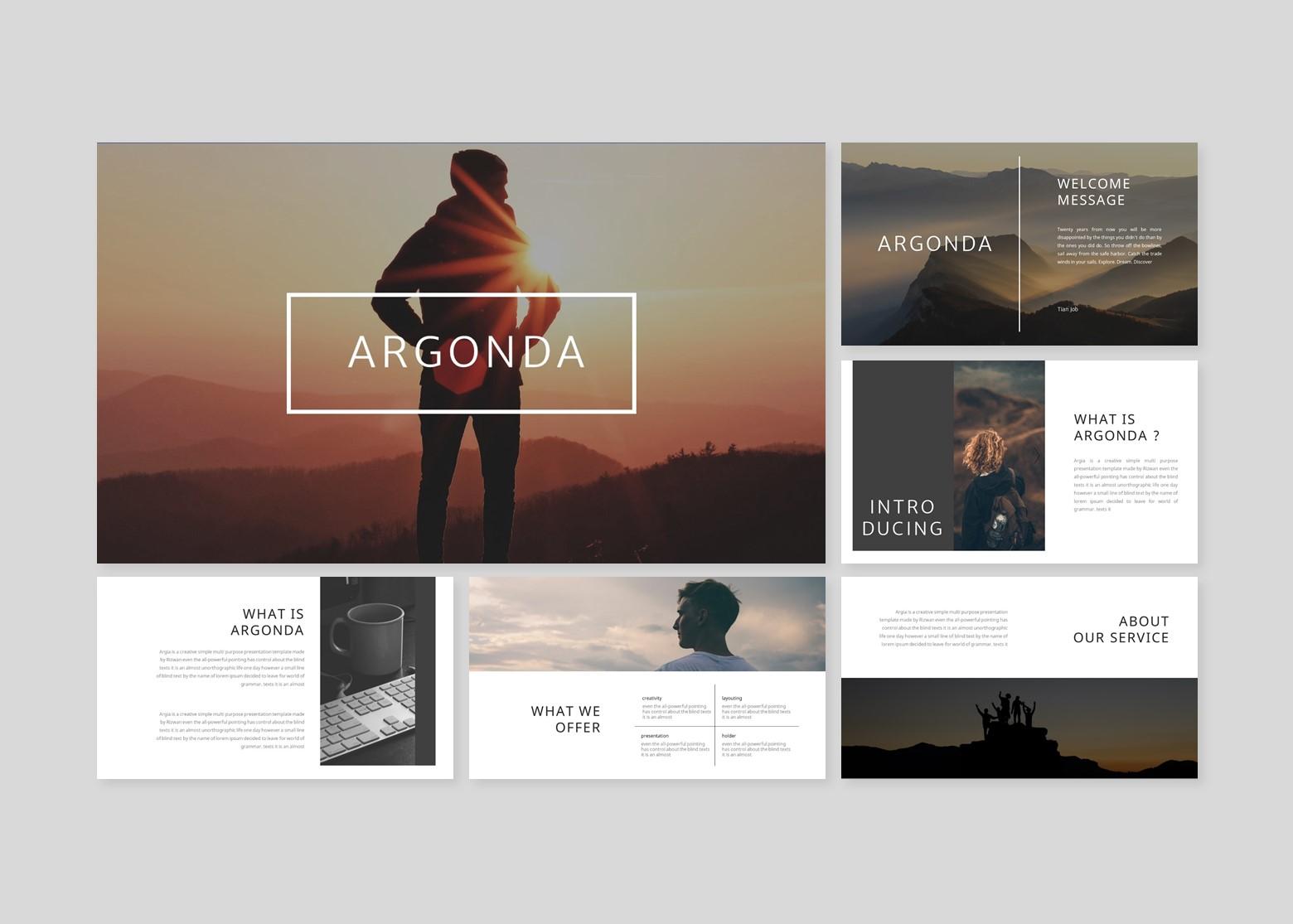 Argonda Creative Business PowerPoint Template