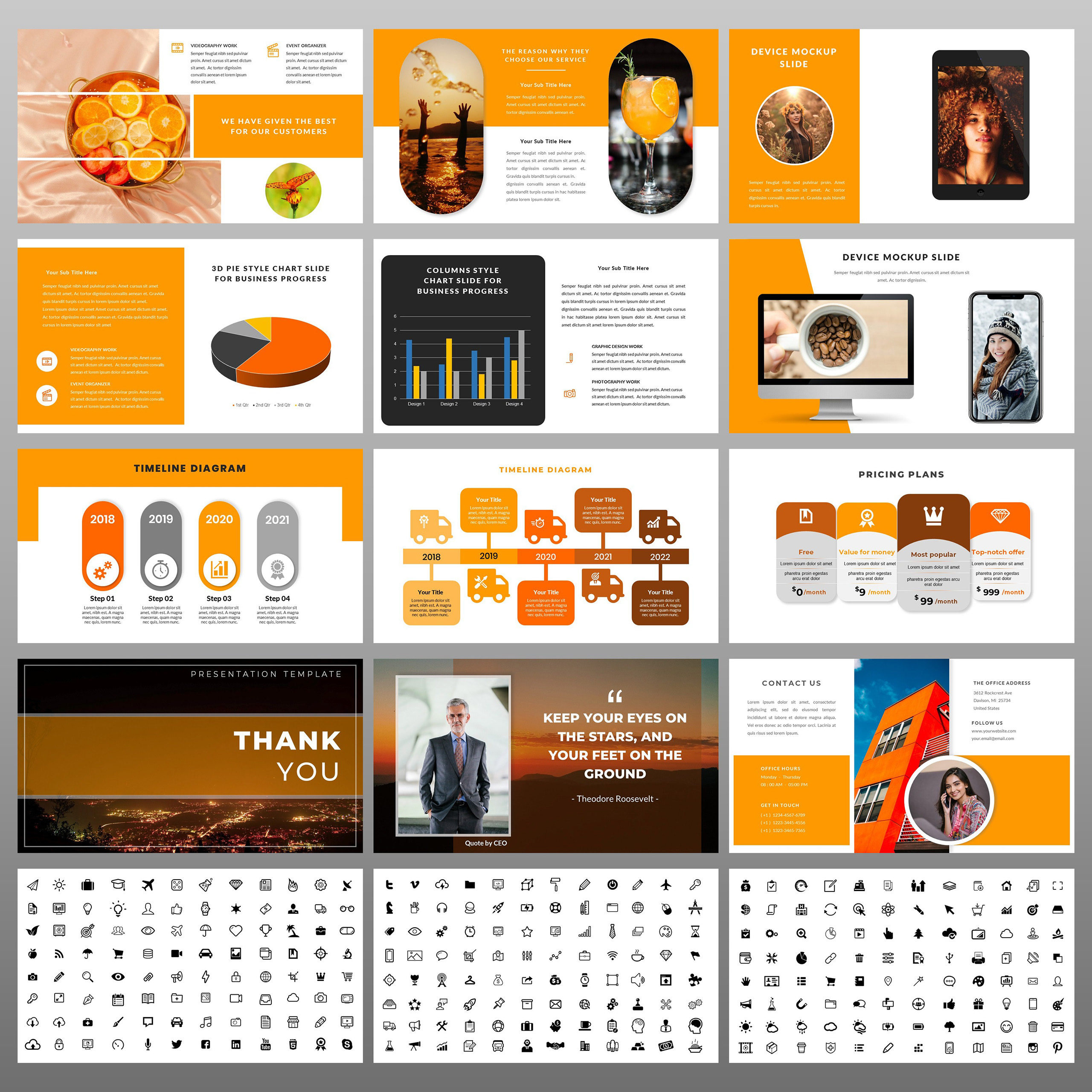 Orange PowerPoint Template