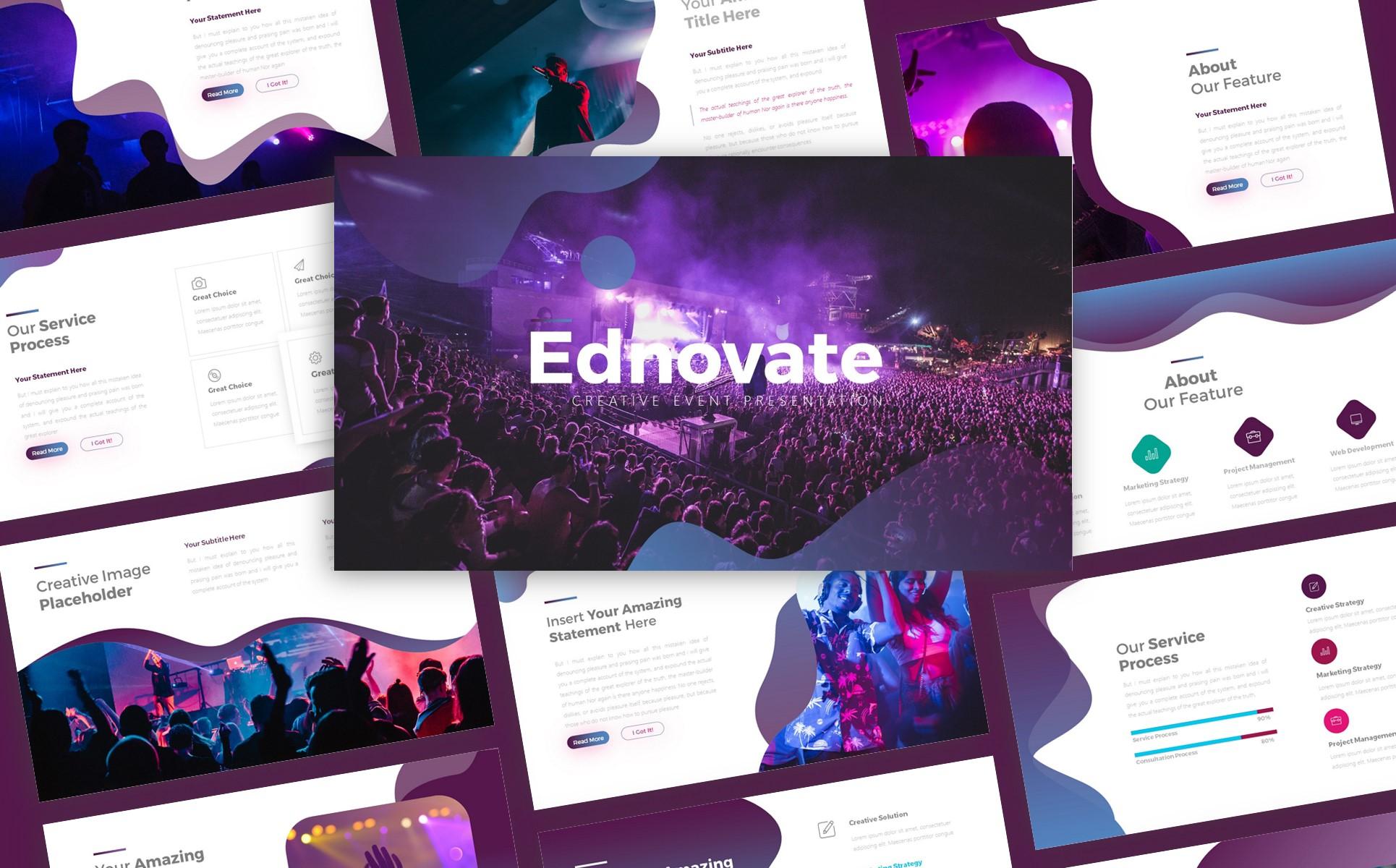 Ednovate Creative Event Presentation PowerPoint Template