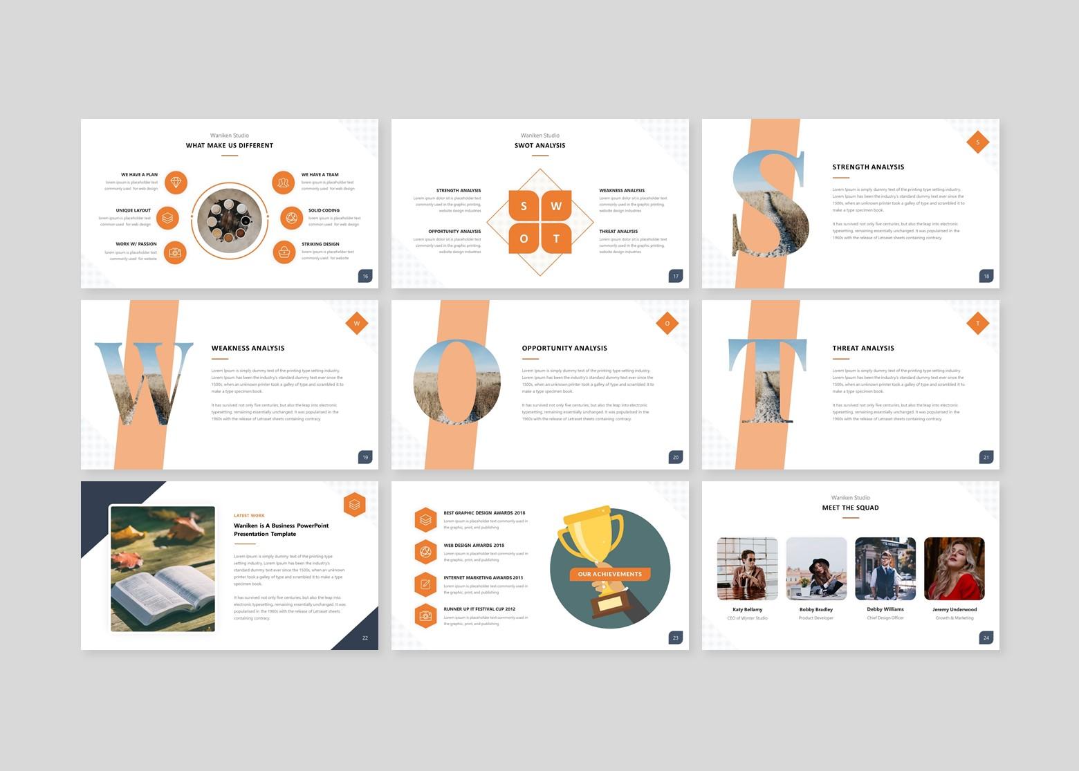 Waniken A Business Presentation PowerPoint Template