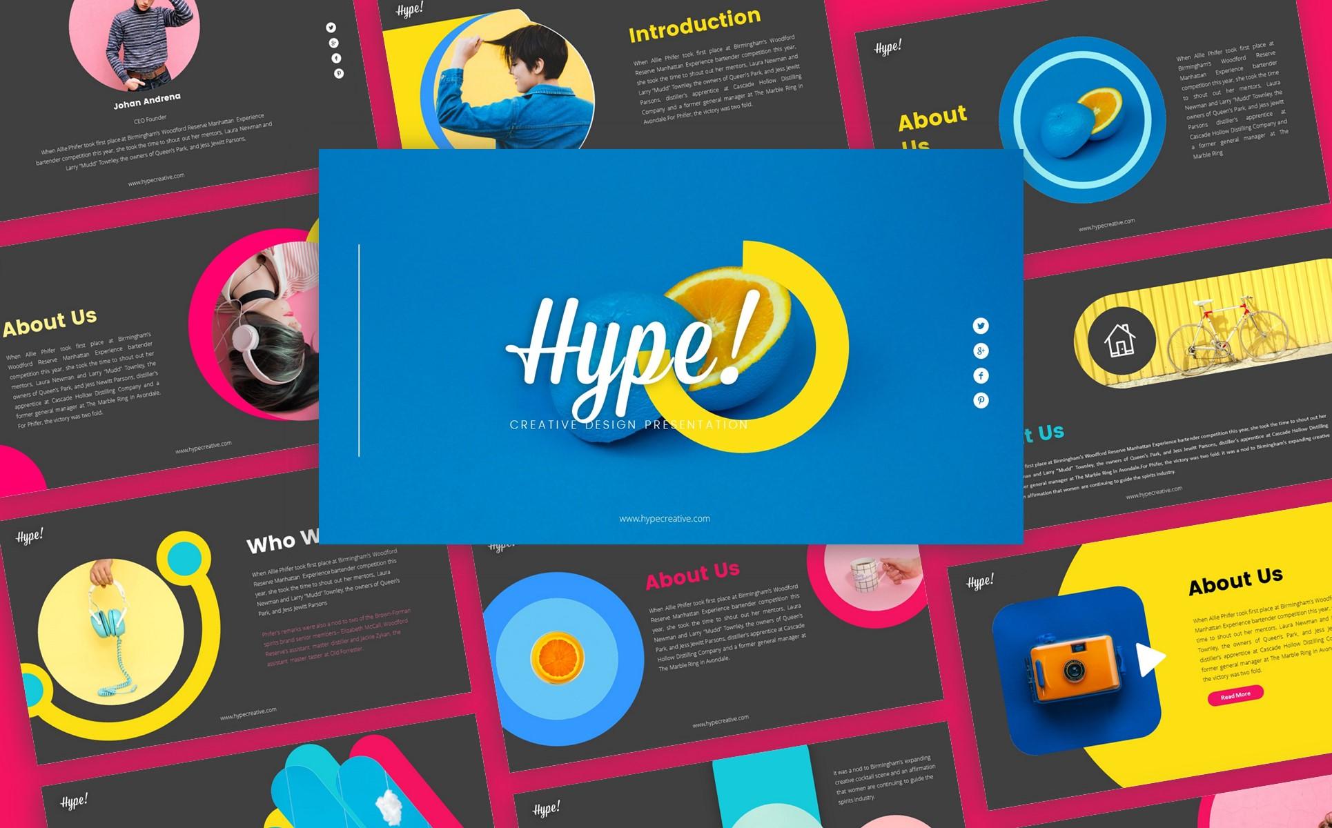 Hype Creative Business Presentation PowerPoint Template