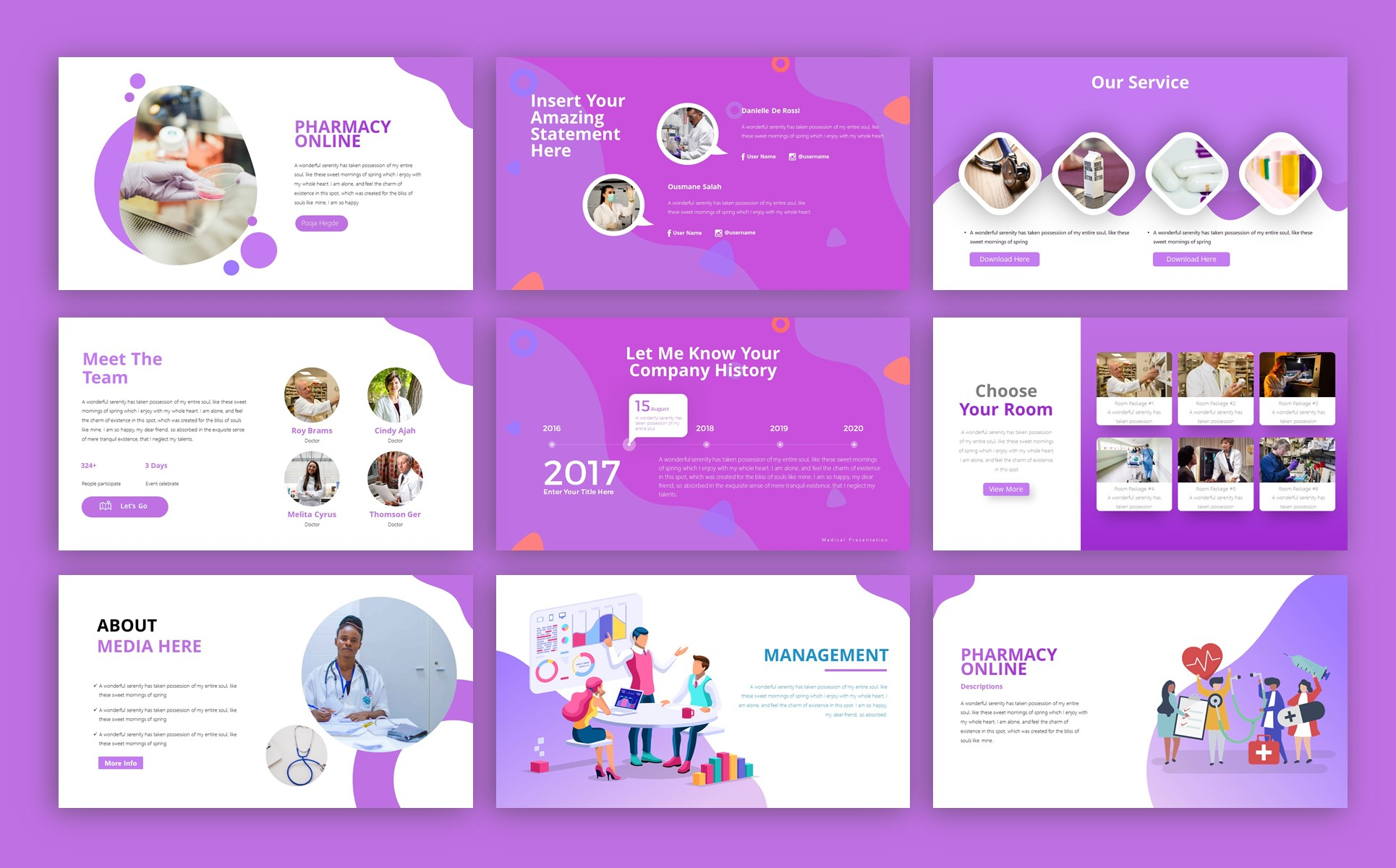 Medishine Medical Presentation PowerPoint Template