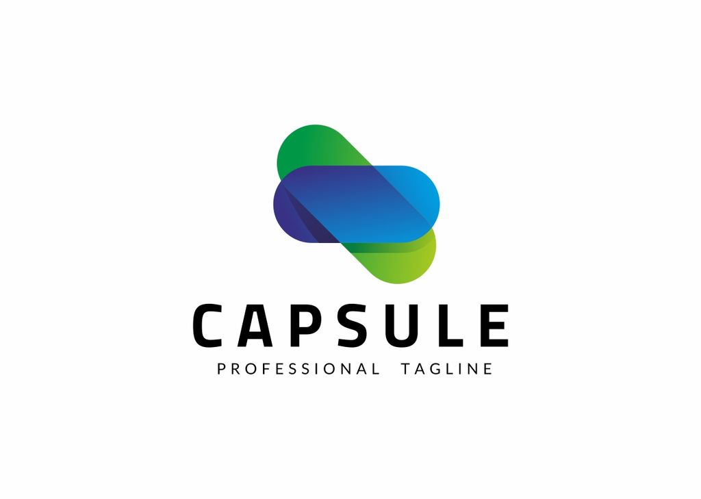 Capsule Medicline - Logo Template