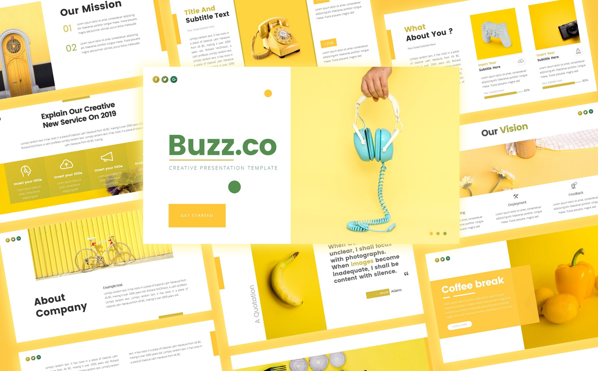Buzz Creative Business Presentation PowerPoint Template