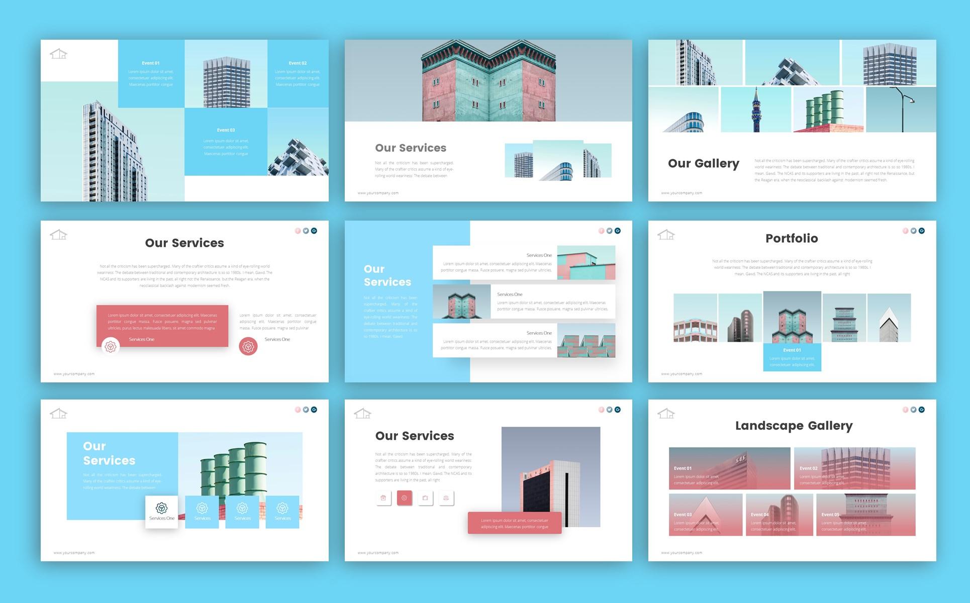 Boulevard Architecture Presentation PowerPoint Template
