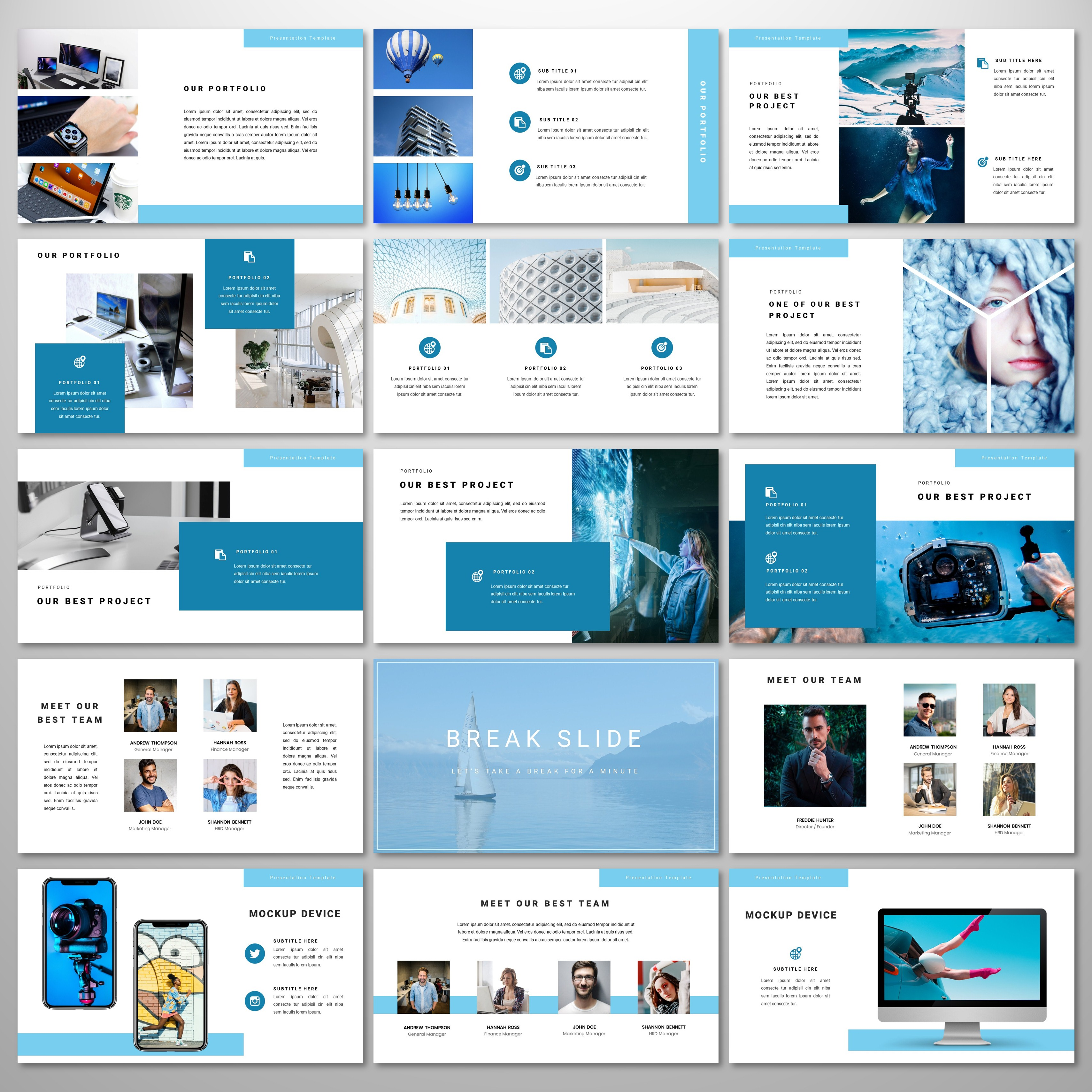 Endscape - PowerPoint Template PowerPoint Template