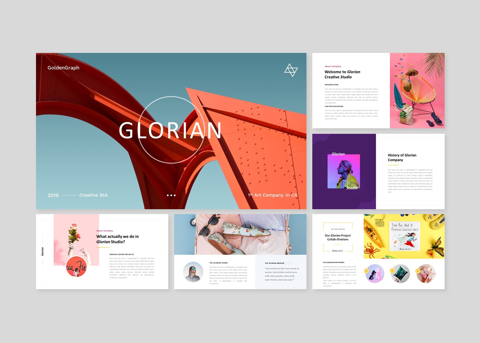 Glorian Creative Business PowerPoint Template