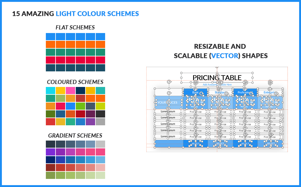 2020 Pricing Table PowerPoint Template