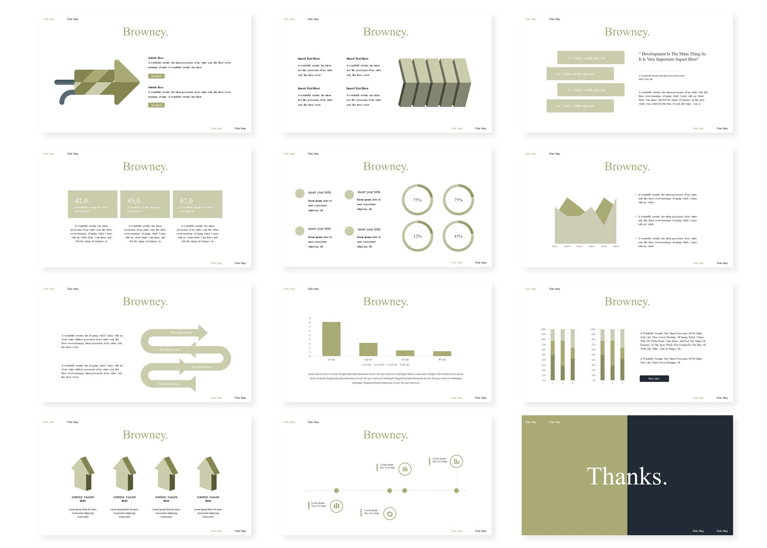 Browney | PowerPoint Template
