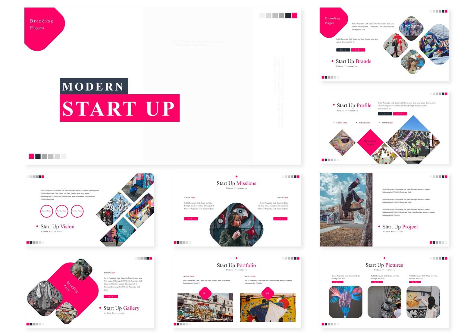 Modern Start Up   PowerPoint Template