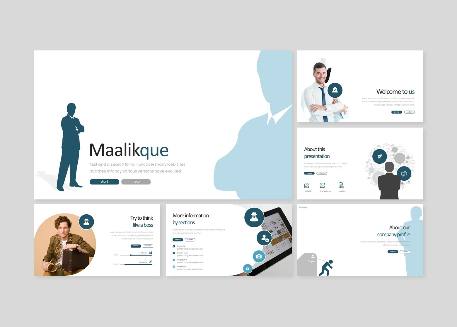 Maliikque Creative Business PowerPoint Template