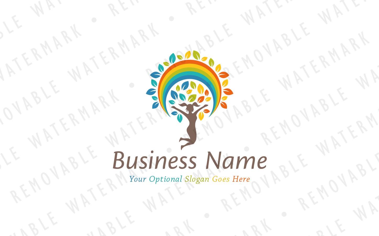 Rainbow Tree of Joy - Logo Template