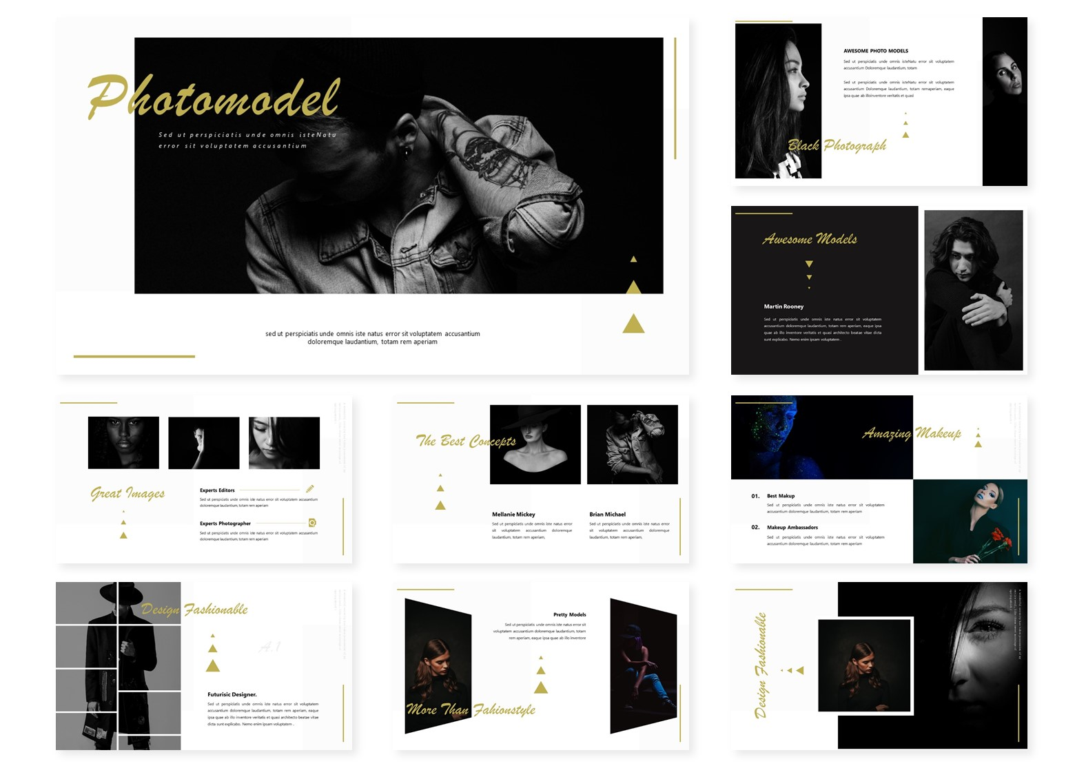 Photomodel   PowerPoint Template