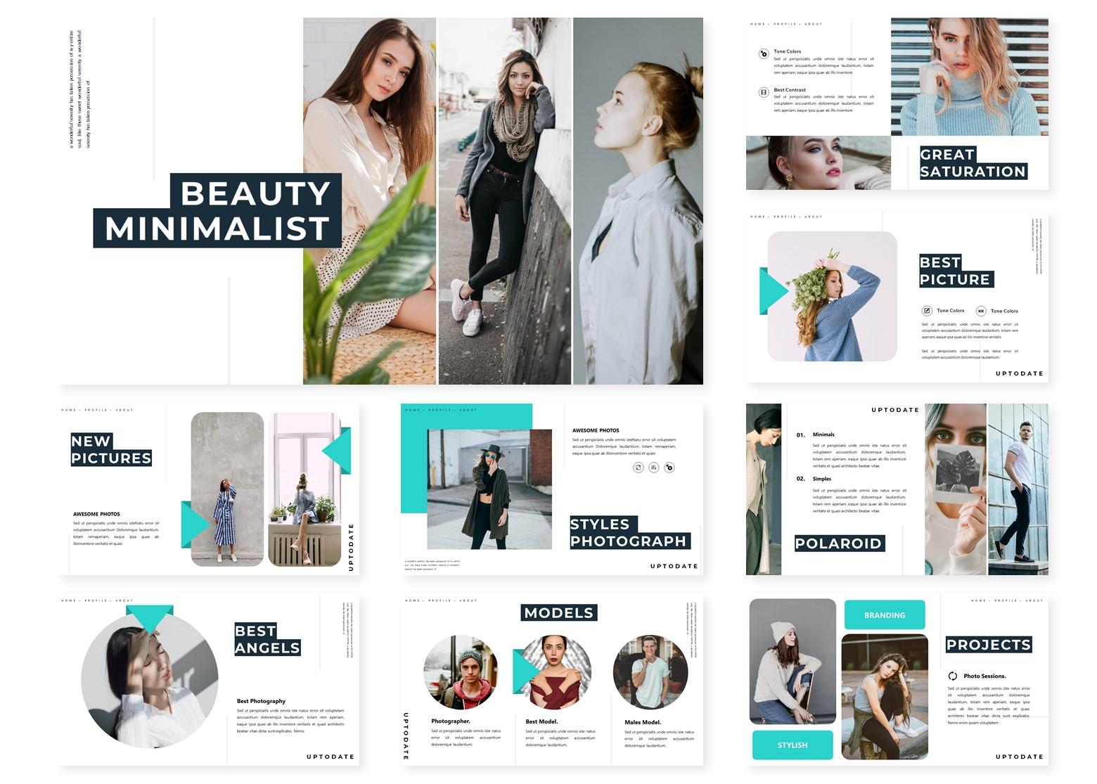 Beauty Minimalist   PowerPoint Template